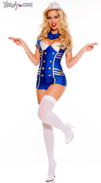 Provocative Stewardess Costume - As Shown