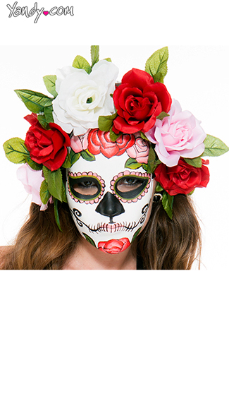 Muerta Mask, Mexican Day Of The Dead Mask, Dia De Los Muertoes Masks