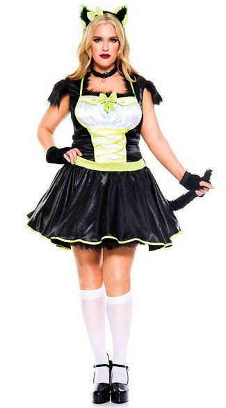 Plus Size Furry Cats Meow Costume Plus Size Sexy Cat Costume
