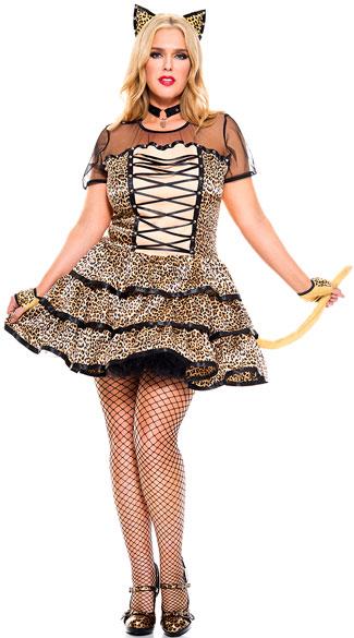 Plus Size Cheeky Cheetah Costume  sc 1 st  Yandy & Plus Size Cheeky Cheetah Costume plus size sexy cheeky cheetah ...