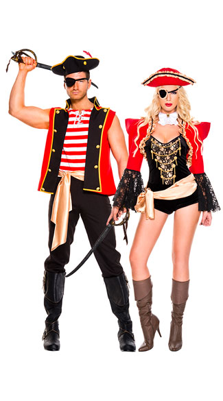 ravishing pirate couples costume