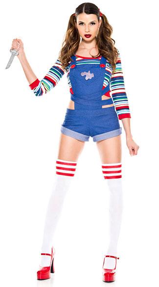 Nightmare Killer Doll Costume, Sexy Doll Costume - Yandycom-4277