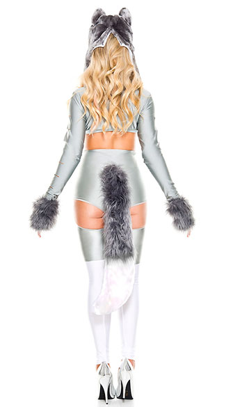 Wild Wolf Woman Costume - As Shown