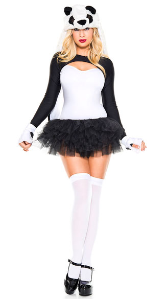 Lovely Panda Costume - As Shown