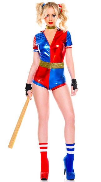 No Good Harley Jester Costume, sexy harlequin costume - Yandy.com
