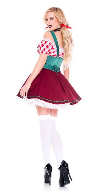Flirty German Gal Costume - As Shown