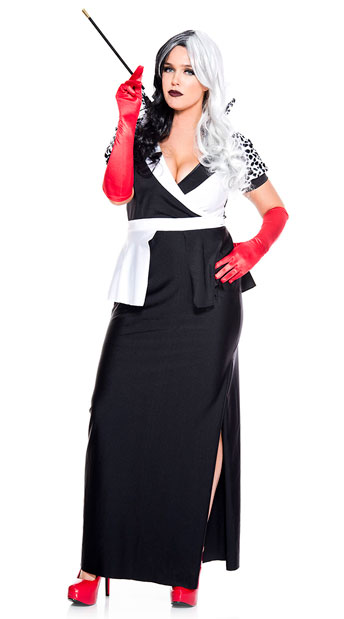 Plus Size Cruel Villain Costume - As Shown