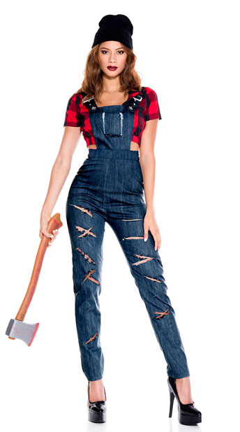 Lady Lumberjack Costume - As Shown