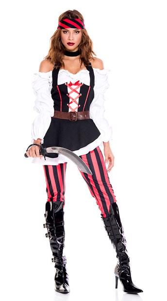 Seven Seas Pirate Costume - As Shown