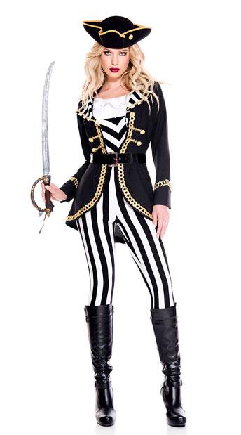 High Seas Captain Costume - As Shown