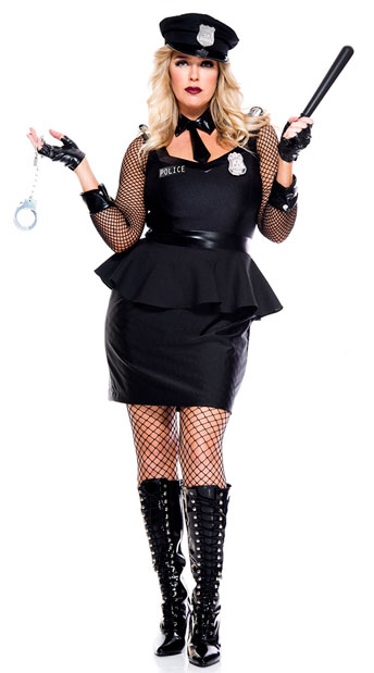 Plus Size Corrections Officer Costume - As Shown