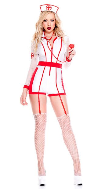 Hospital Risque Nurse Costume - As Shown