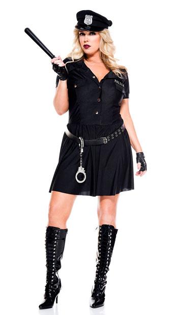Plus Size Law Enforcer Costume - As Shown