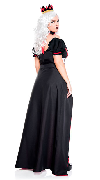 Plus Size Enchanting Royal Heart Queen Costume - As Shown