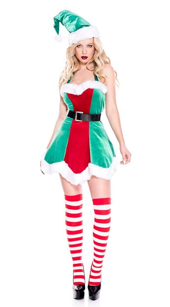 North Pole Elf Costume - As Shown