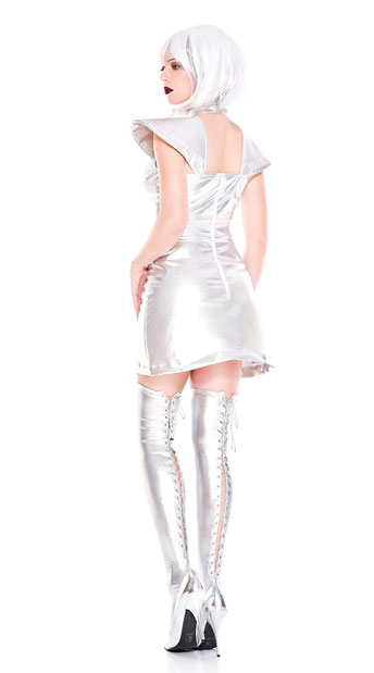 Space Cadet Girl Costume - As Shown