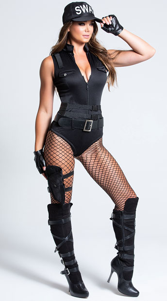 SWAT Babe Costume - As Shown