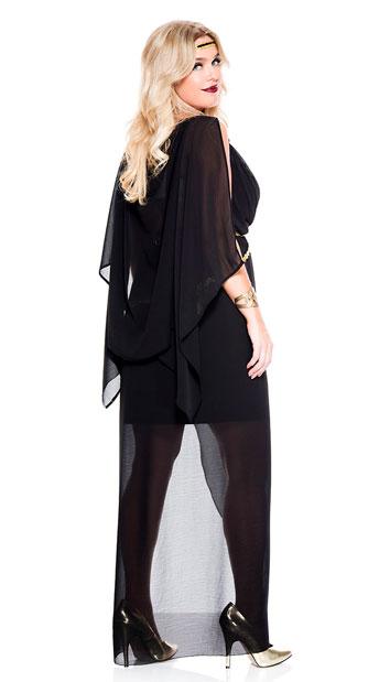 Plus Size Gorgeous Midnight Goddess Costume - As Shown