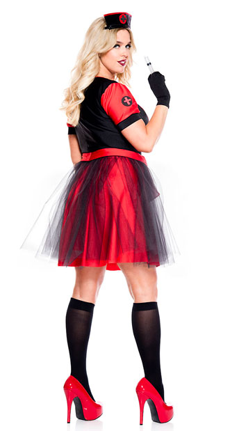 Plus Size Night Nurse Costume - As Shown