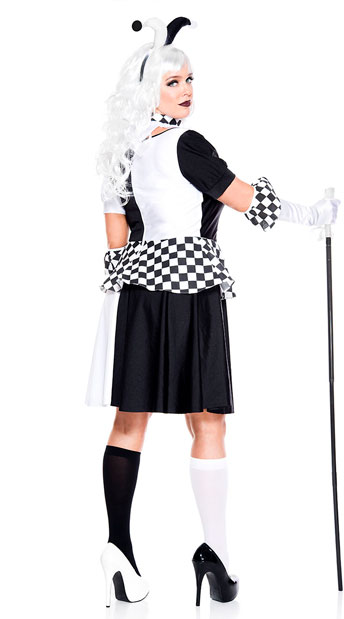 Plus Size Wicked Jester Costume - As Shown