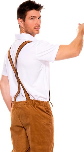 Mens Bavarian Lederhosen Costume - As Shown