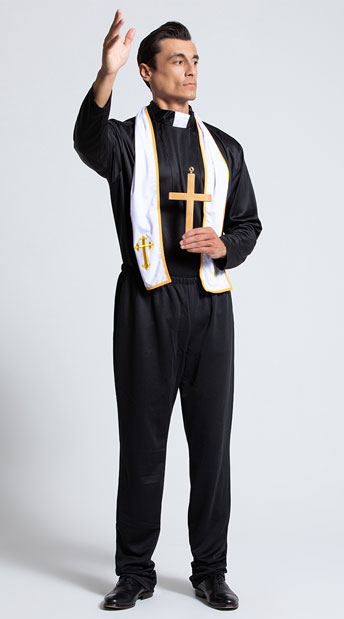 Men's Religious Priest Costume - As Shown