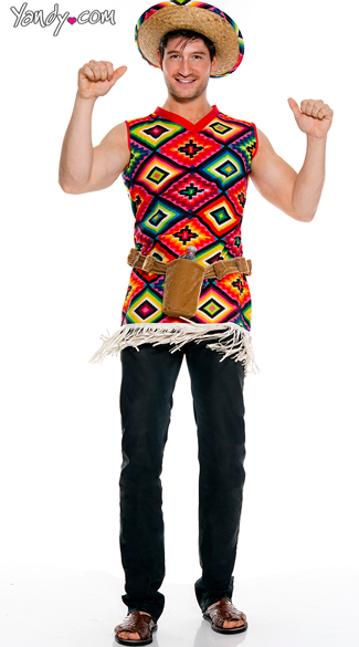 Men's Authentic Mexican Tequila Costume - As Shown