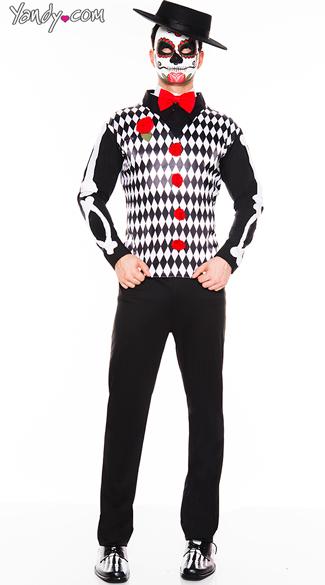 Men's Graveyard Mister Costume - As Shown