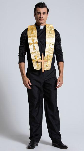 Men's Priest Costume - As Shown