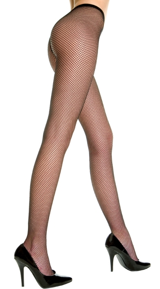 Plus Size Frisky Fishnet Pantyhose - Black
