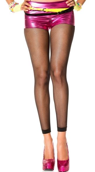 Spandex Fishnet Leggings - Black