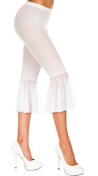 Mesh Capri Pants - White