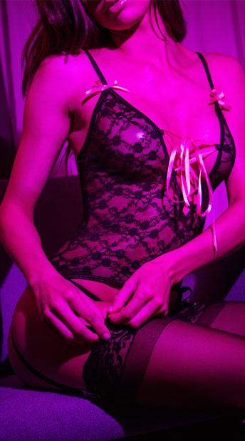 Black Lace Merrywidow Set - Black