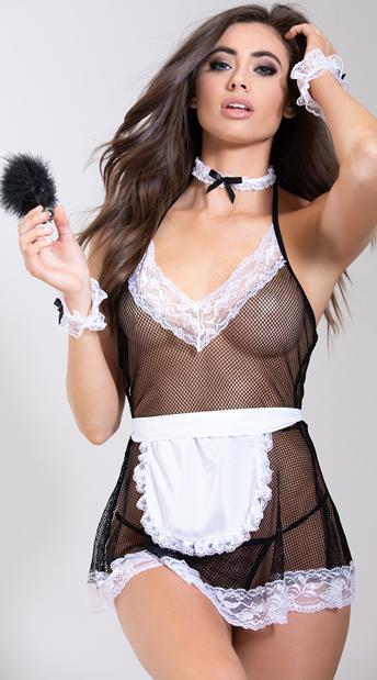 Chamber Maid Lingerie Costume - Black