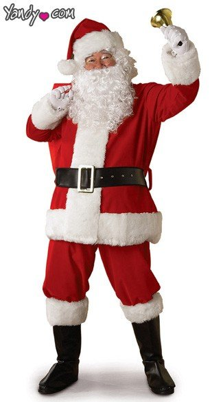 Regal Plush Santa Costume, Santa Suit, Santa Claus Costume