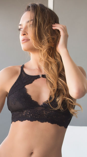 Josilyn Lace Bralette - Black