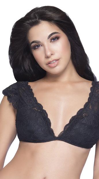f52235b51a1e6 Suzette Lace Bralette - Black ...