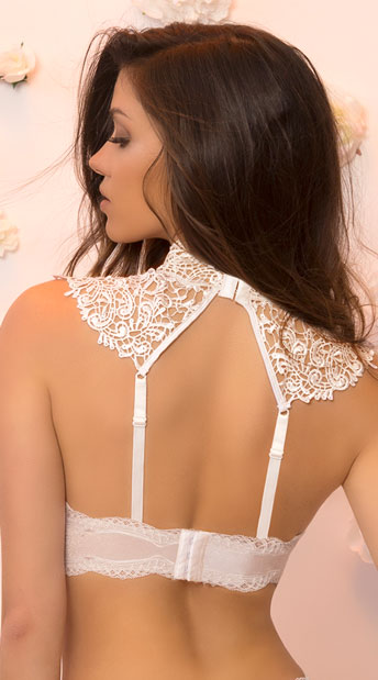 Violette Lace Bra - Whispering White