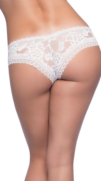 Yvette Lace Boyshort - White