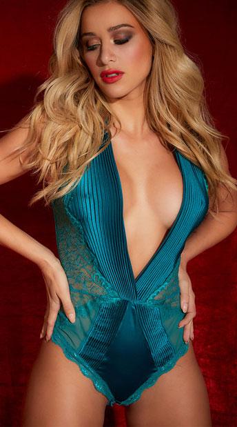 Nicolette Plunge Bodysuit - as shown