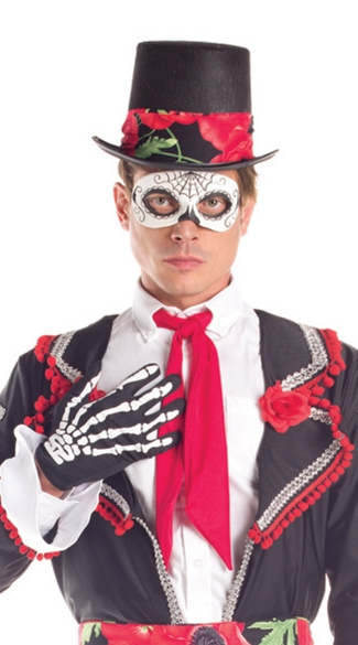 Day of the Dead Top Hat - Black