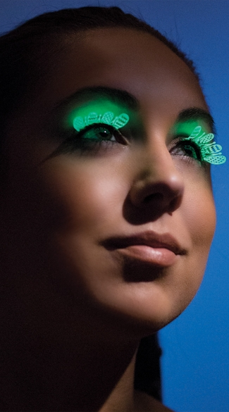 Glow In The Dark Whimsy Eyelashes - Neon