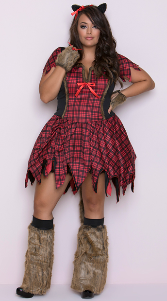 Plus Size Frisky Werewolf Costume, Sexy Werewolf Costume, Big Bad Wolf Costume, Plus Size Werewolf Costume