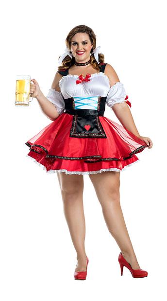 Plus Size Oktoberfest Hottie Costume - As Shown