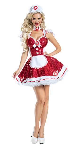 Glam Nurse Costume - As Shown
