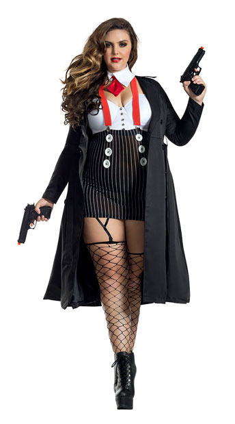 Plus Size Gangster Babe Costume