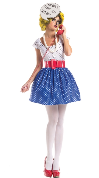 Pop Art Housewife Costume - As Shown