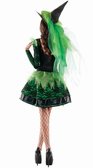 Wicked Emerald Witch Shaper Costume - As Shown