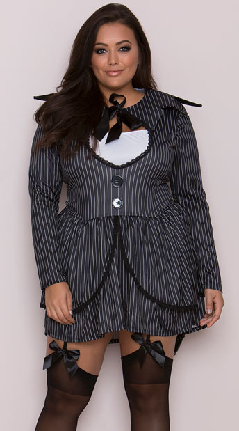 Plus Size Bad Dreams Babe Costume - As Shown