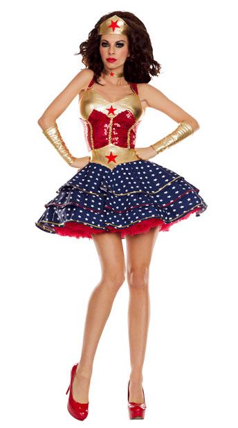 Wonderful Sweetheart Costume, Wonder Lady Costume - Yandycom-1587